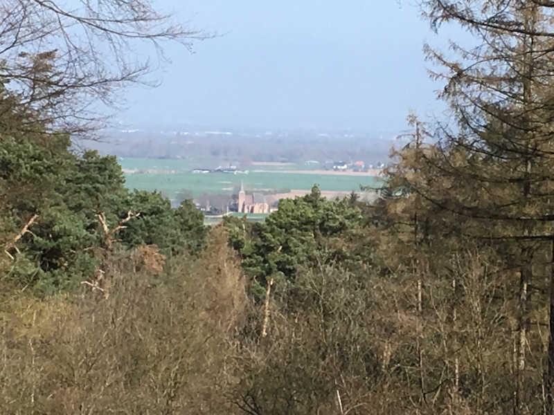 Uitzicht vanaf Heerlijkheid Beek Kerkje Persingen